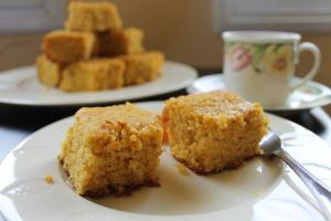 Yellow Cornmeal Orange Cake
