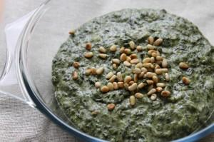 No-Bake Cheesy Spinach Bechamel
