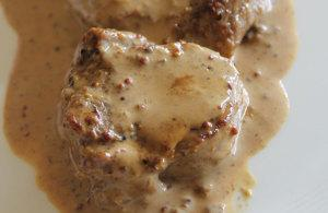 Easy Veal Fillet with Instant Dijon Mustard Sauce