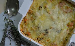 Baked Sweet Potato Fish Pie