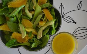 Avocado Orange Green Salad