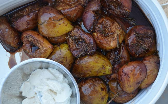 Balsamic Roasted Figs with Citrus Ricotta