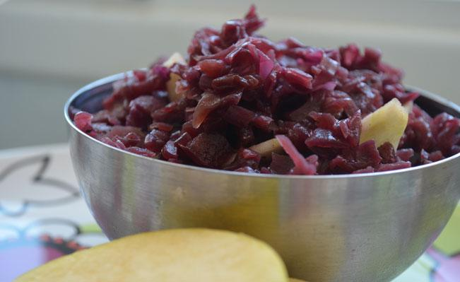 Red Cabbage Warm Salad