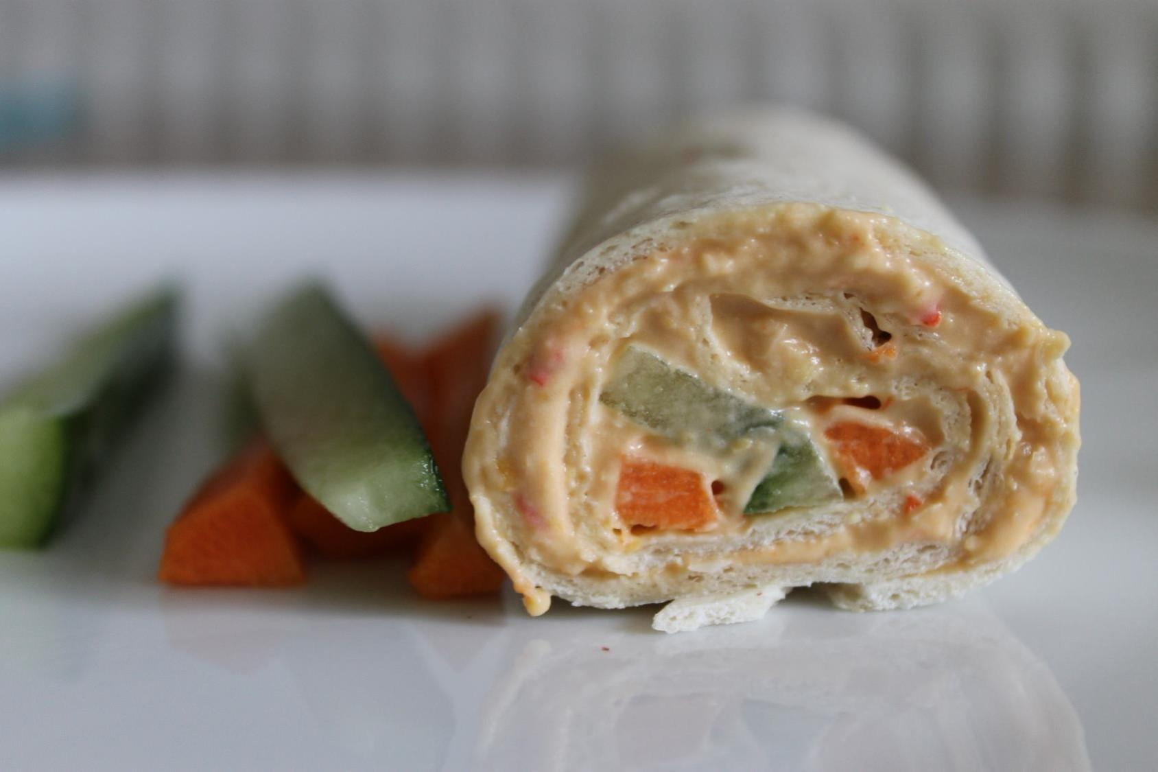 Red Pepper Hummus Wrap