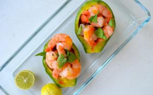 Roasted Shrimp Stuffed Avocados