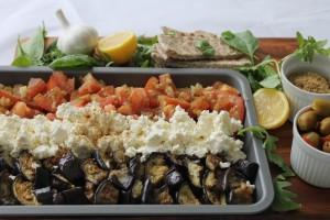 Egyptian Eggplant & Cheese Platter
