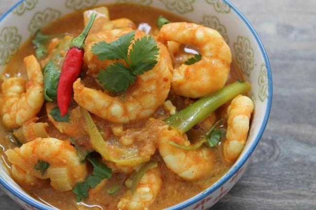 easy shrimp curry'