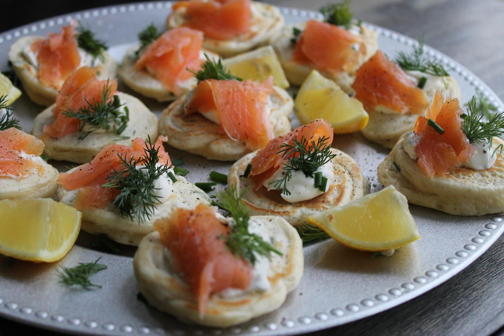 smoked salmon blini""