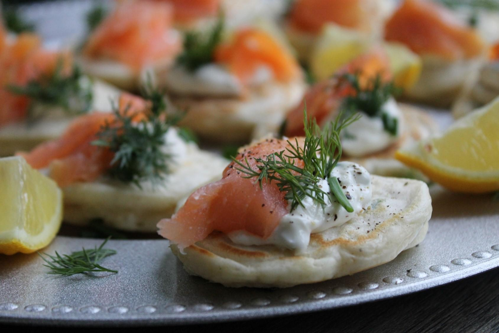 Easy Smoked Salmon Blini