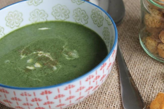 "creamy spinach soup""'"