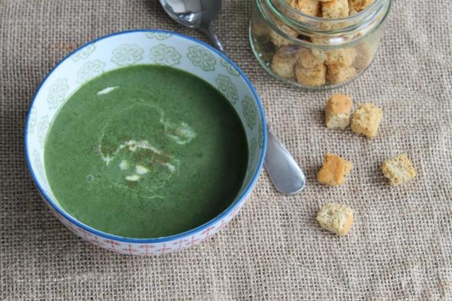 creamy spinach soup'