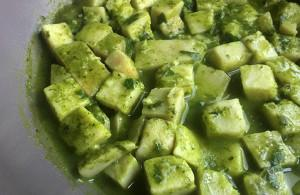 Traditional Kolkas with Green Herbs