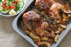 Roasted Thyme Chicken & Potatoes