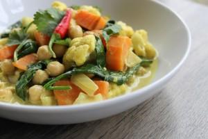 Cauliflower & Sweet Potato Vegetable Curry
