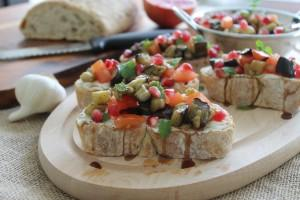 Roasted Eggplant & Labna Bruschetta