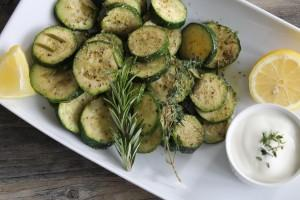 Roasted Zucchini with Garlic & Herbs