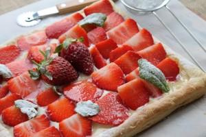 Sweet Strawberry Tart with Homemade Custard