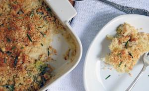 Crispy Cauliflower & Broccoli Gratin