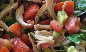 Shredded Chicken & Avocado Salad