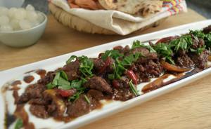 Chicken Livers with Pomegranate Molasses