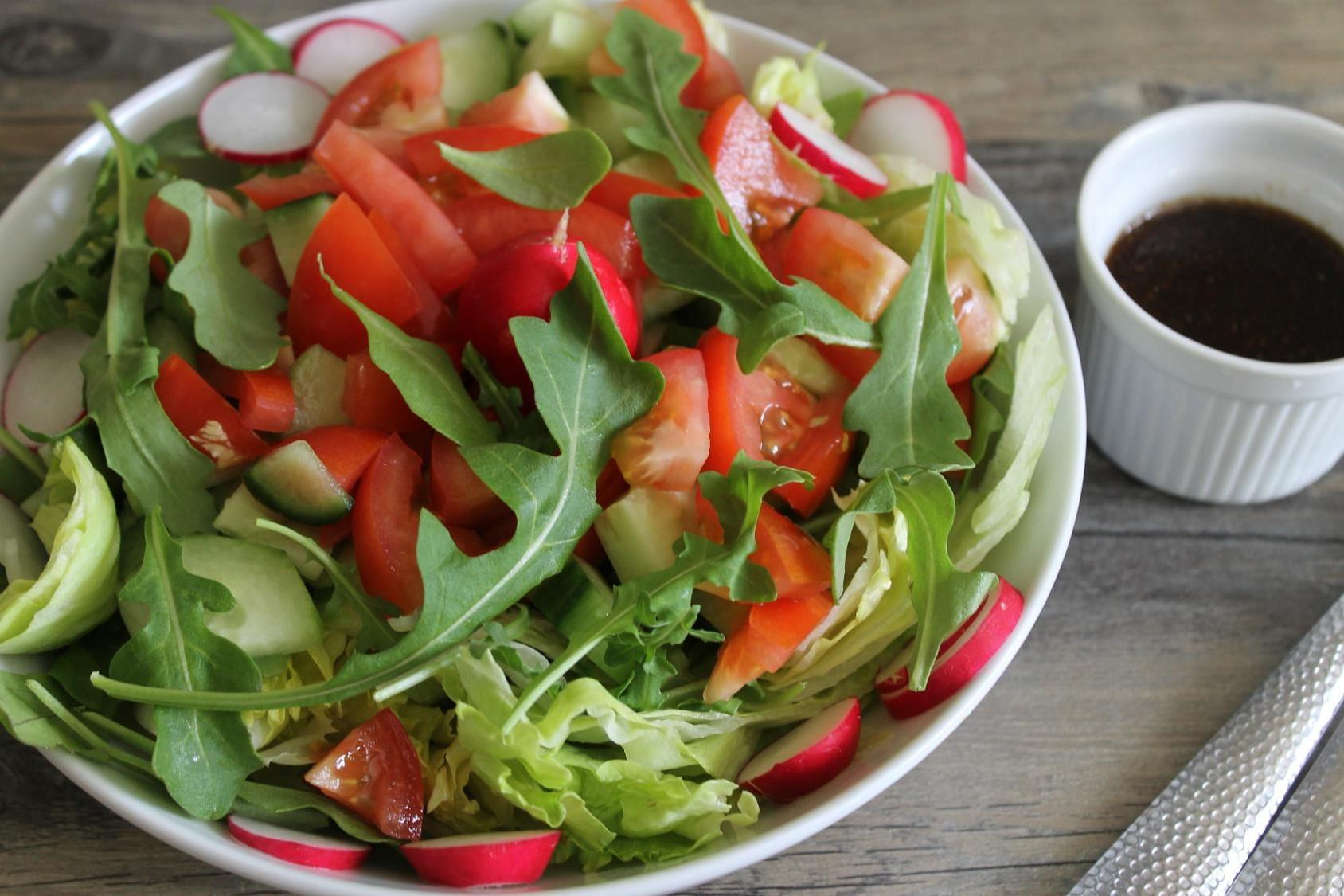 Everyday Salad with Balsamic Dijon Dressing