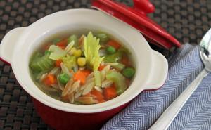 Orzo & Vegetable Soup (Lessan Asfour)