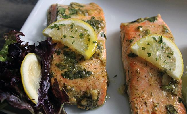 baked-salmon-with-fresh-herbs