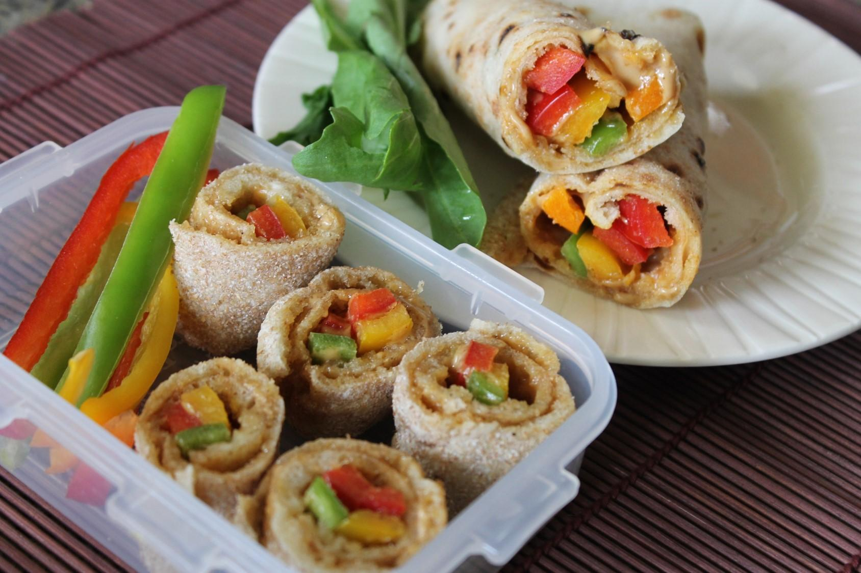 Peanut Butter & Coloured Pepper Baladi Wrap'