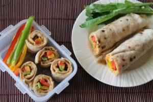 Peanut Butter & Coloured Peppers Baladi Wrap