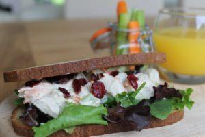 Chicken Salad Sandwich with Dried Cranberries