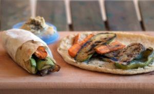 Grilled Veggie Rolls with Cashew Cheese