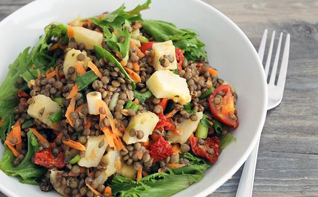 artichoke-and-lentil-salad