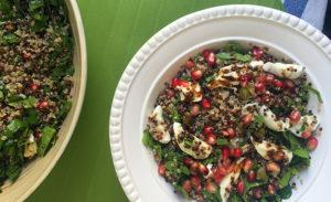 Quinoa, Mozzarella & Pomegranate Salad