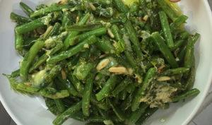 Light Garlic Green Beans with Pine Nuts