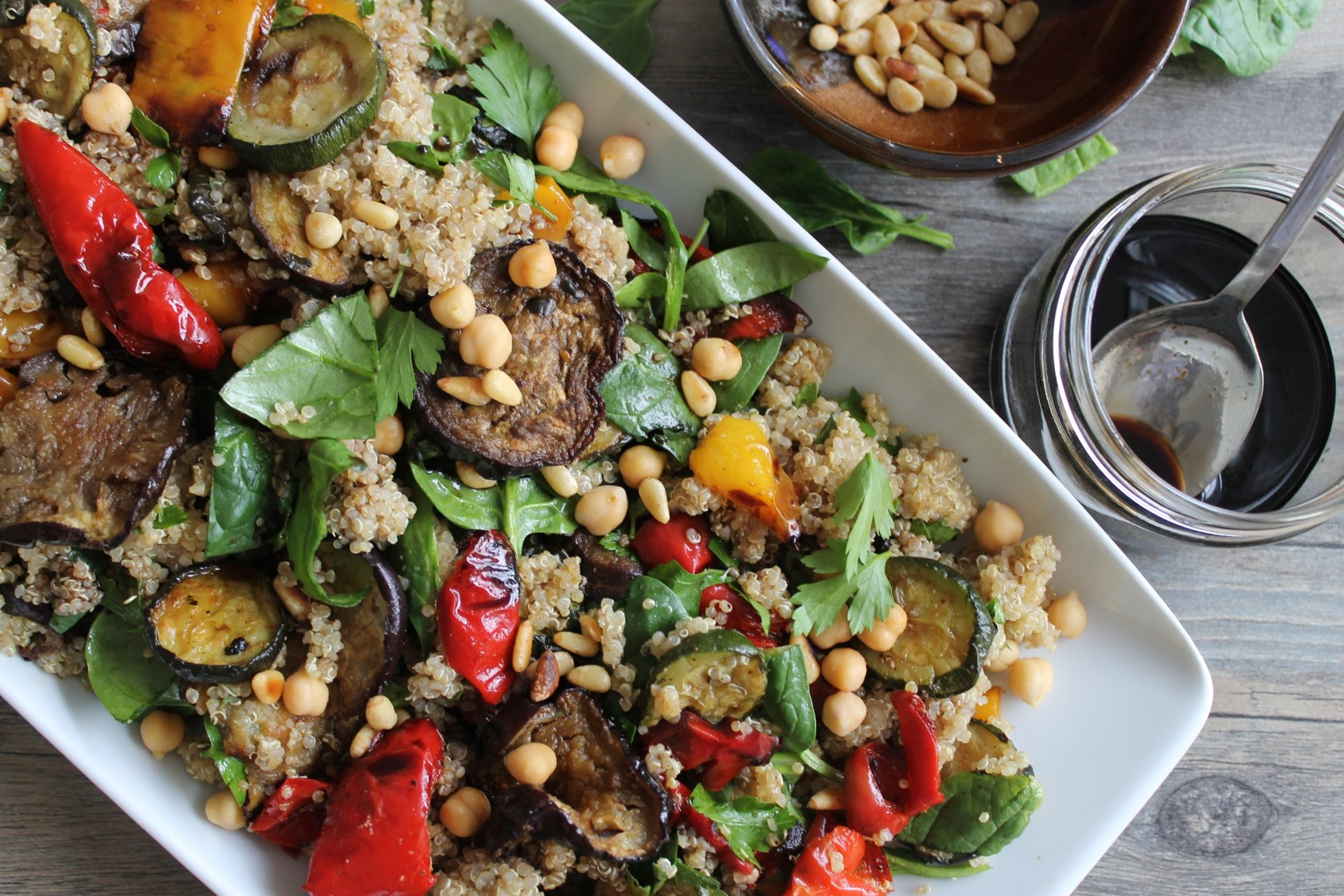 Mediterranean Roasted Vegetable Quinoa