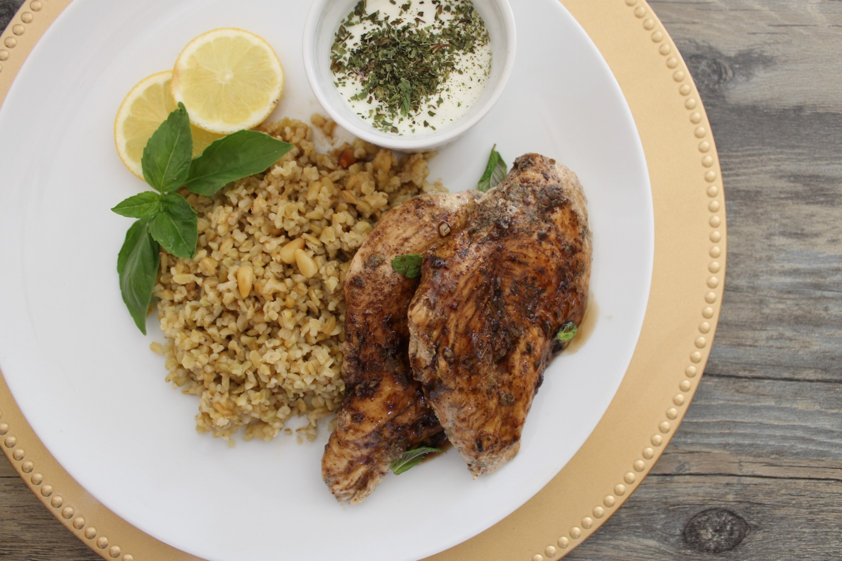 Oregano Chicken & Freekeh
