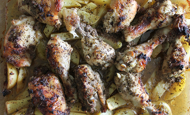 Fragrant Roast Chicken Thighs with Potatoes