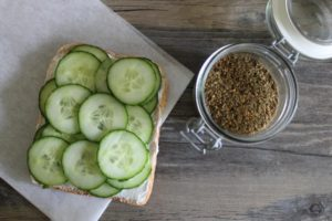Classic Cheese & Cucumber Sandwich with a Twist