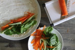 Fresh Veggies & Cream Cheese Wrap