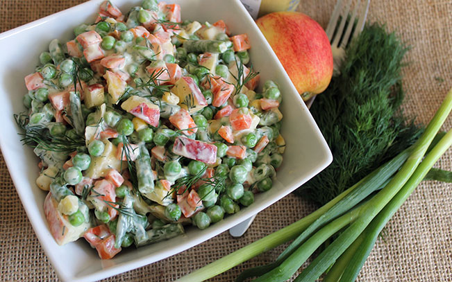 Apple & Dill Mixed Vegetable Salad