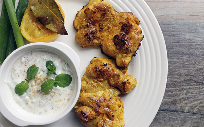 Indian Chicken with Spiced Yoghurt