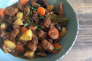 Kabab Halla (Beef Stew) with Prunes