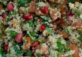 Quinoa Salad with Mint & Pomegranate Seeds