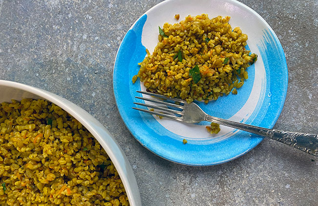 freekeh-carrot-and-onion