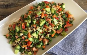 Blackeyed Peas Salad with Parsley Dressing