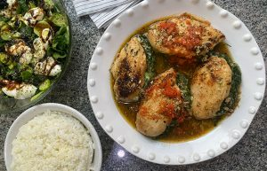 Juicy Spinach-Stuffed Chicken Fillets